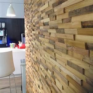 Parement Bois Mural : parement bois mural interieur ~ Premium-room.com Idées de Décoration