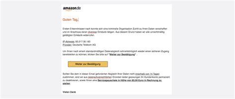 amazon phishing aktuell gefaelschte  mails im umlauf