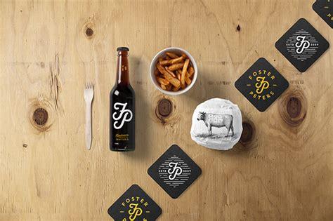 burger bar stationery mockup  behance