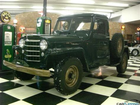 willys jeep truck green 1952 jeep willys truck carflipping com featuring the