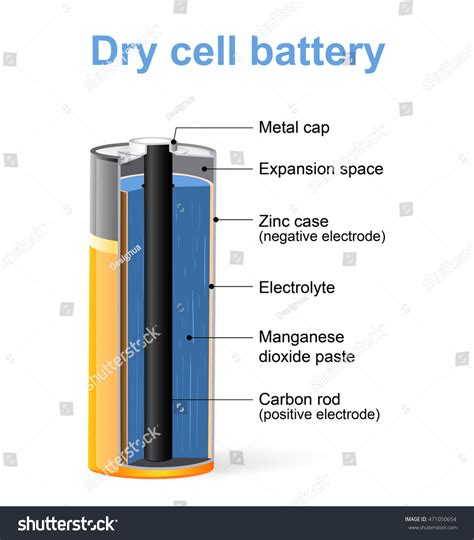 parts cell battery vector diagram stock vector
