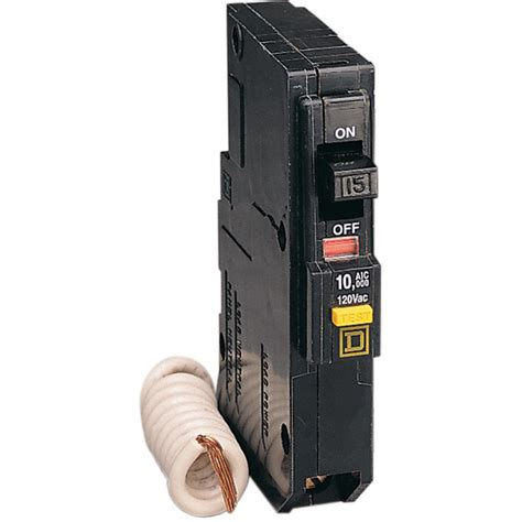 gfci circuit breaker shop square d qo 15 amp ground fault circuit breaker at lowes com