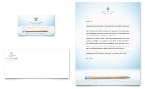 academic tutor school business card letterhead