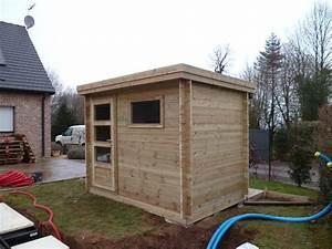 abri jardin contemporain en bois autoclave avec toiture en With abri de jardin contemporain