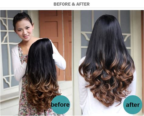 Fashion Ombre Wig Hair Fall Half Wig Curly Hair Wigs Two
