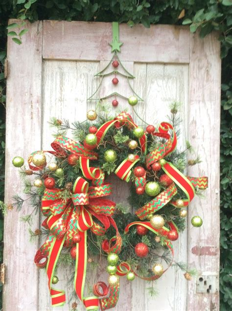 artificial christmas wreath ideas  stunning front