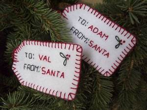 tutorial embroidered felt gift tags needle work With embroidered labels for crafts