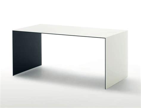 p desk glas italia sio2 bridge contemporary italian desk in white