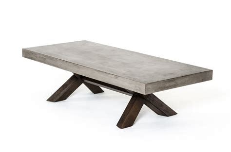Concrete Wood Coffee Table   Modern Furniture ? Brickell Collection