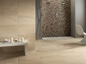 Mosaik Fliesen Badezimmer : bad fliesen steinoptik sandstein mosaik braun duschbereich ~ Michelbontemps.com Haus und Dekorationen
