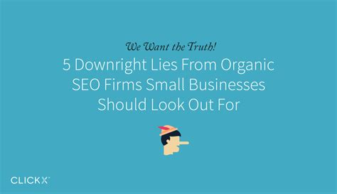Organic Seo Company by 5 Downright Lies From Organic Seo Firms Small Businesses