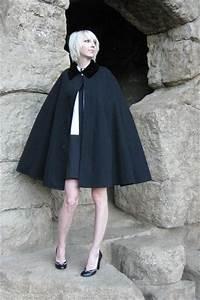Black Vintage Cape Henderson James Co Coats
