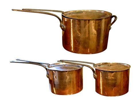 copper cooking pots  john jacob astors beechwood late  century copper cookware