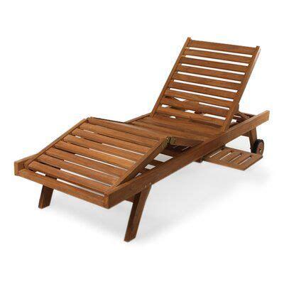 longshore tides humphrey teak chaise lounge