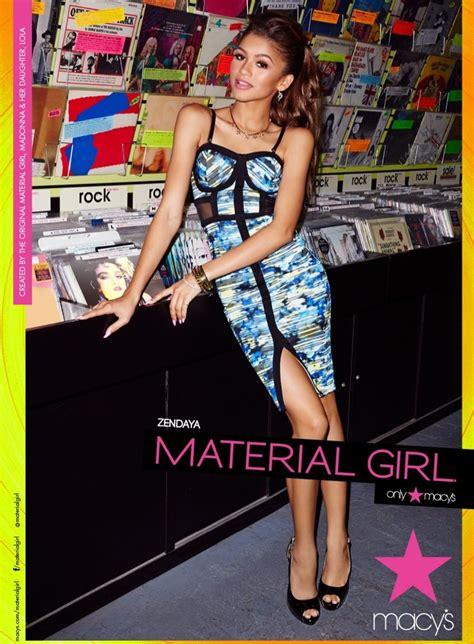 zendaya models  madonnas spring  material girl