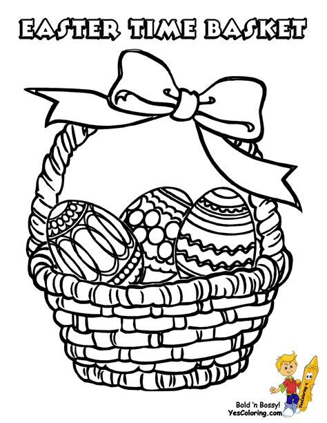 easter basket coloring pages handsome easter basket coloring pages free easter