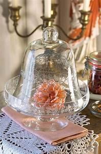 Shabby Chic Deko Onlineshop : rose unter glasglocke shabby chic landhaus deko vintage glas cloche ~ Frokenaadalensverden.com Haus und Dekorationen