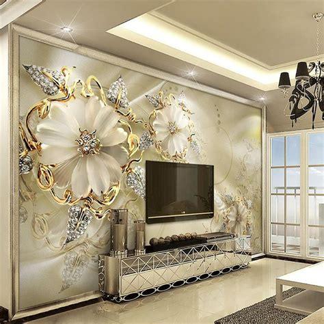 custom wallpaper  living room diamond jewelry large