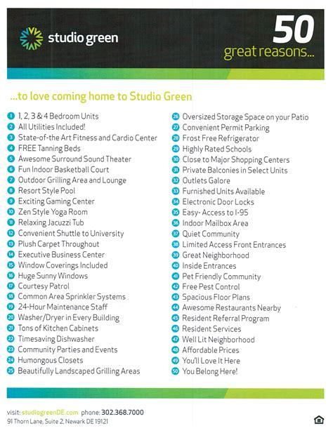 list of amenities studio green english language institute