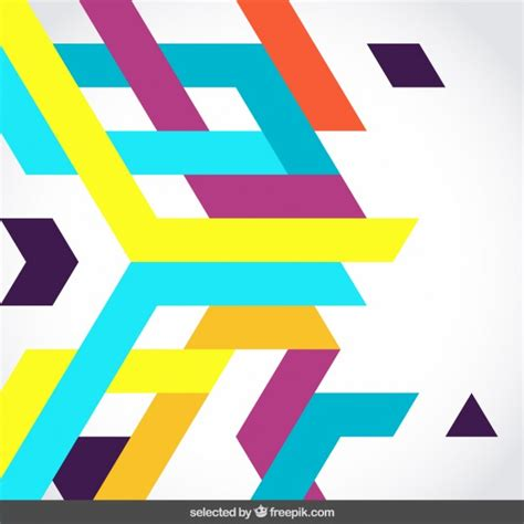 Abstract Shape Png by Colored Abstract Shapes Vector Free