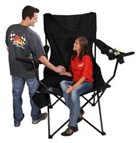 Kingpin Folding Travel Chair With Canopy by On The Edge Marketing Kingpin Folding Chairs 810169 Free