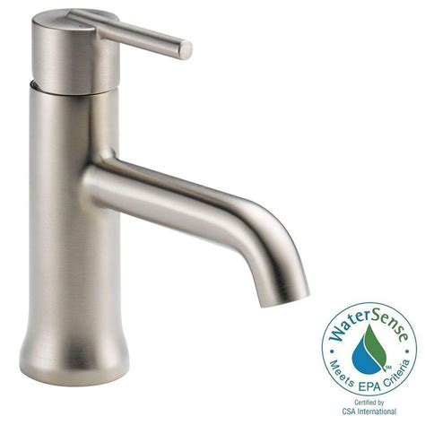 delta trinsic bathroom faucet delta single single handle bathroom faucet in