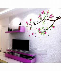 SYGA Floral PVC Vinyl Multicolour Wall Stickers - Buy SYGA
