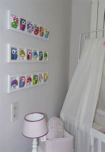 Decoration Murale Chambre Enfant : d coration murale chambre b b figurines chambre bebe hiboux ~ Teatrodelosmanantiales.com Idées de Décoration
