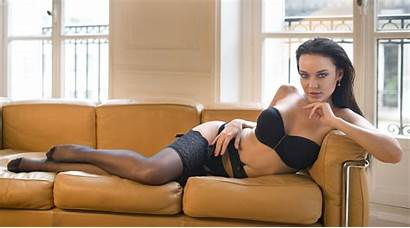 Angelina Petrova Couch Lingerie Brunette Bra Wallhere
