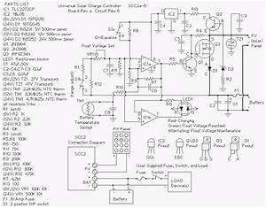build a 10 amp solar charge controller scc2 circuit With wiring diagram solar panels 12v