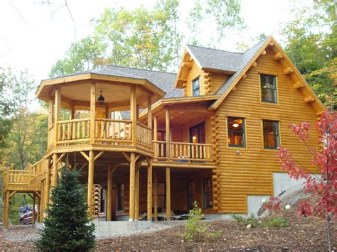 Big Twig Homes Katahdin Cedar Log Home Stoneham Maine