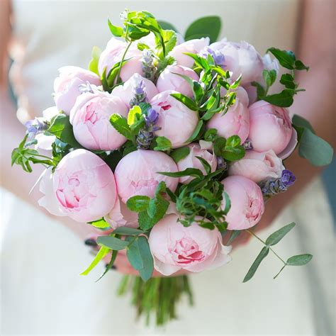 Peony Pink Bridal Bouquet Wedding Flowers The Real