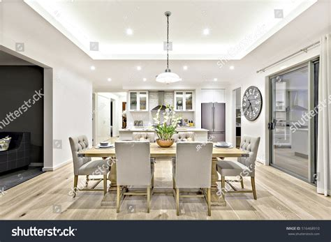 Modern Dining Room Hanging Lamps On Stock Photo 516468910