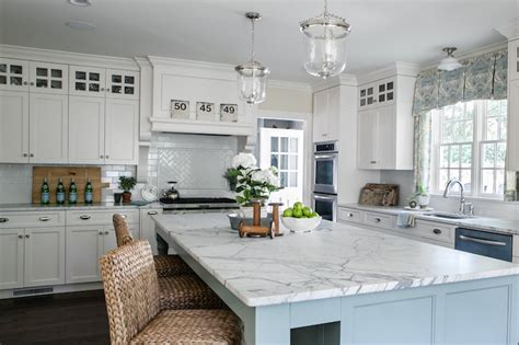 white  blue kitchen transitional kitchen sherry