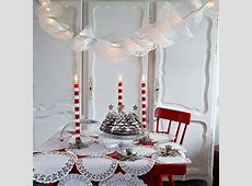 Beautiful Christmas table decorations