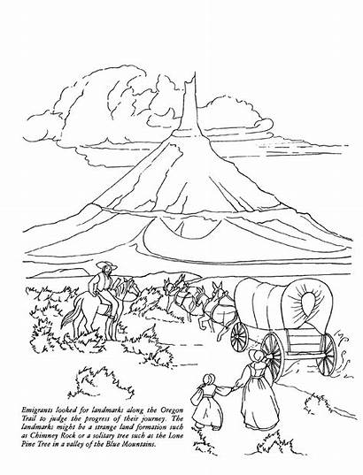 Trail Oregon Coloring Tears Drawing Wagon Pages