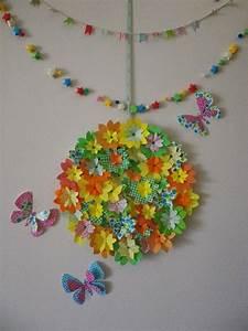 Origami Fleur Coeur D étoile : couronne de printemps origami fleur cerisier papillon ~ Melissatoandfro.com Idées de Décoration
