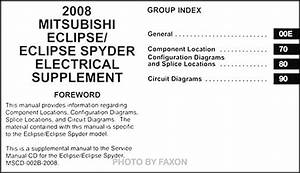 2008 Mitsubishi Eclipse  U0026 Spyder Wiring Diagram Manual Original