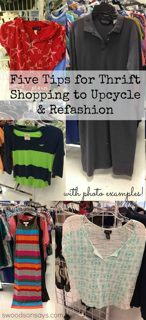 Tips For Thrift Shopping To Upcycle And Refashion