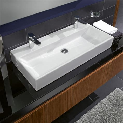 double faucet trough sink trough bathroom sink with two faucets clubnoma com