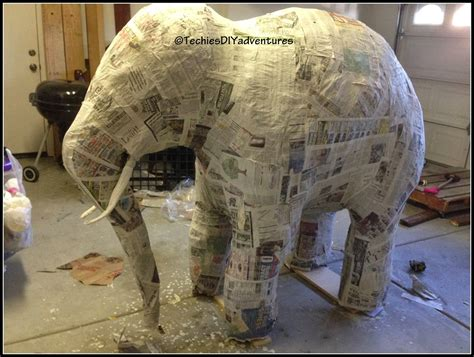 black l shade tutorial on how to paper mache elephant almost