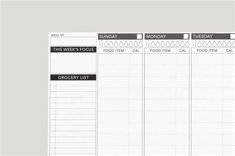 printable calorie tracker template business psd excel