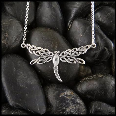 dragonfly bar pendant walker metalsmiths celtic jewelry