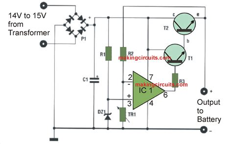 automatic 12v battery charger circuits