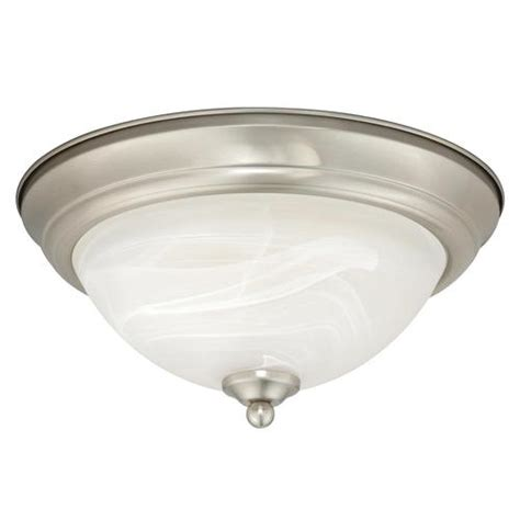 menards ceiling light fixture payton led 13 quot satin nickel ceiling light at menards 174