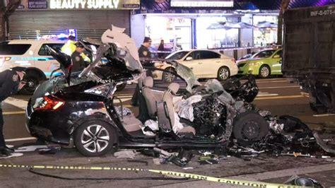 person killed car hits mta truck