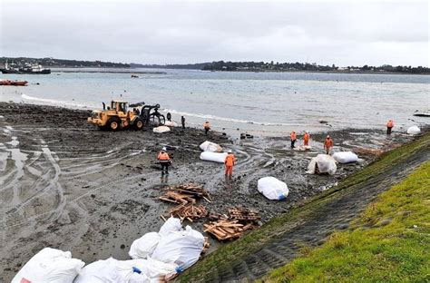 Muelle colapsa en Calbuco con más de 300 toneladas de