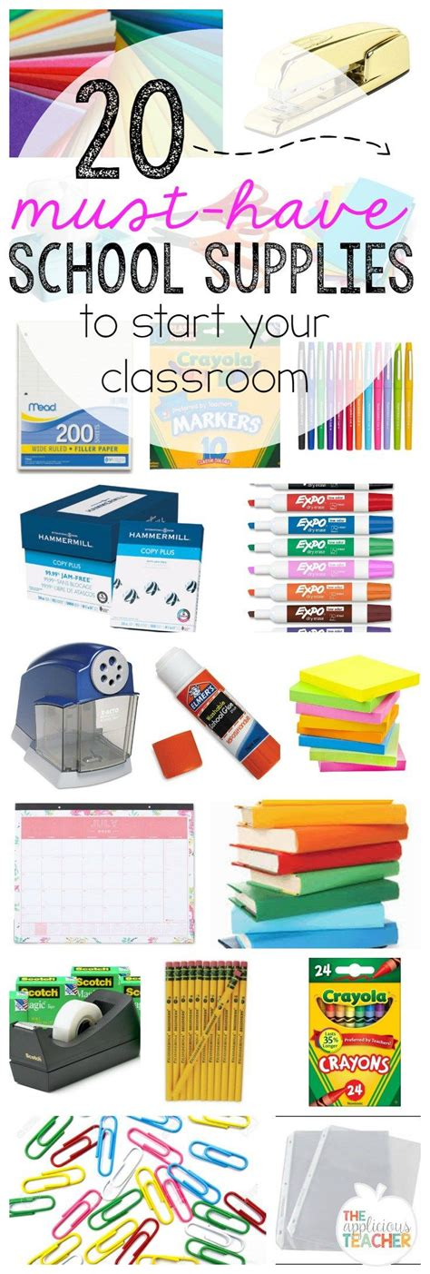 20 must classroom supplies to start your room