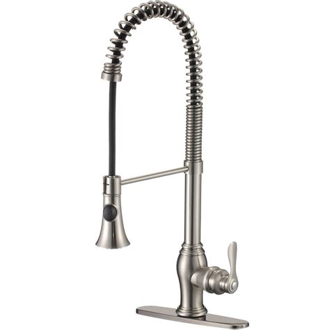 pull kitchen faucet brushed nickel ispring single handle pull sprayer kitchen faucet