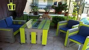 Salon De Jardin Palettes : 6 tables en palettes pour un jardin hyper sympa i deco cool ~ Farleysfitness.com Idées de Décoration